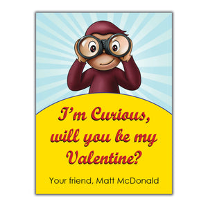 Curious George Valentine Instant Download