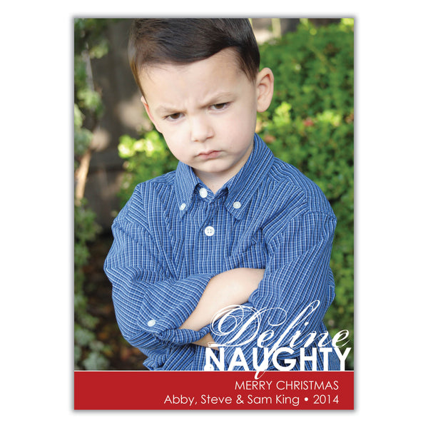 Define Naughty Christmas Card