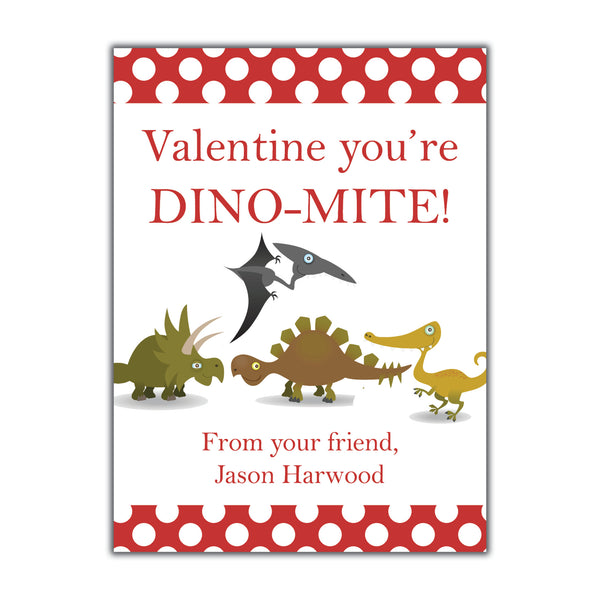 Dinosaur Valentine. Instant Download