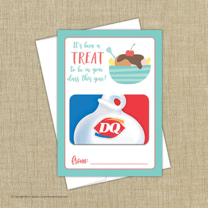 Ice Cream Gift Card Holder