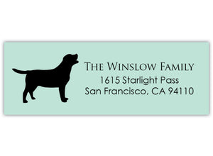 Dog Return Address Labels