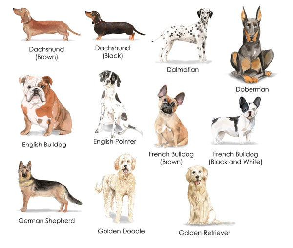 Dog Birthday Labels (multiple breeds available)