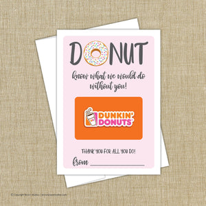 Dunkin Donut Gift Card Holder