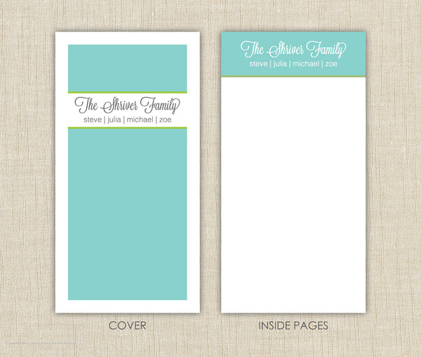 Family Personalized Notepad Set