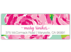 Floral Pattern Return Address Label