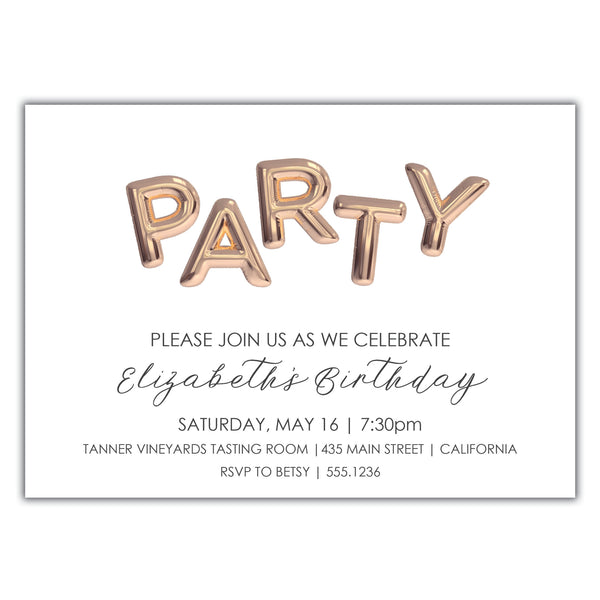 Party Birthday Invitation