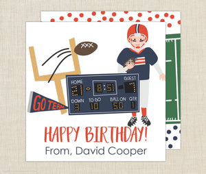 Football Gift Enclosure Cards