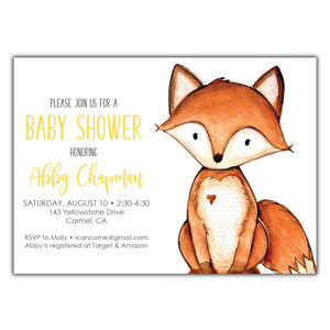 Fox Baby Shower