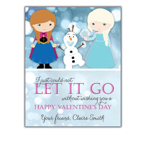 Frozen School Valentine. Instant Download