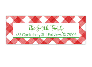 Gingham Address Label