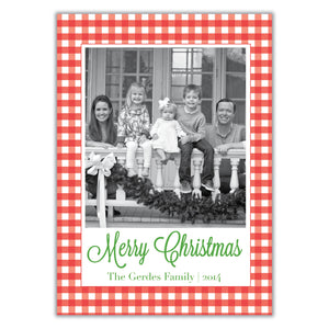 Gingham Christmas Card