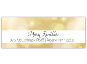 Gold Return Address Label