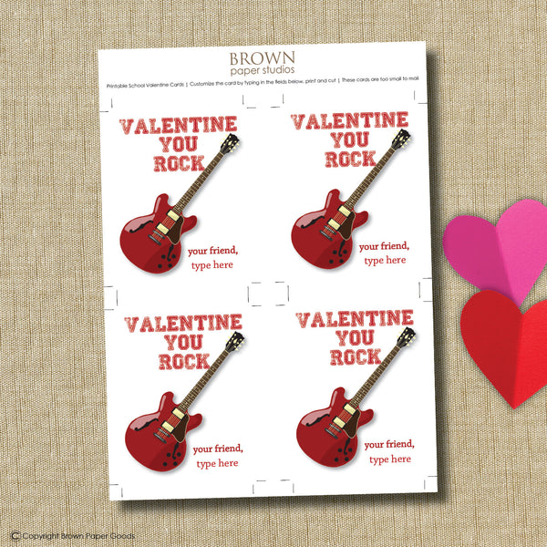 You Rock Valentine. Instant Download