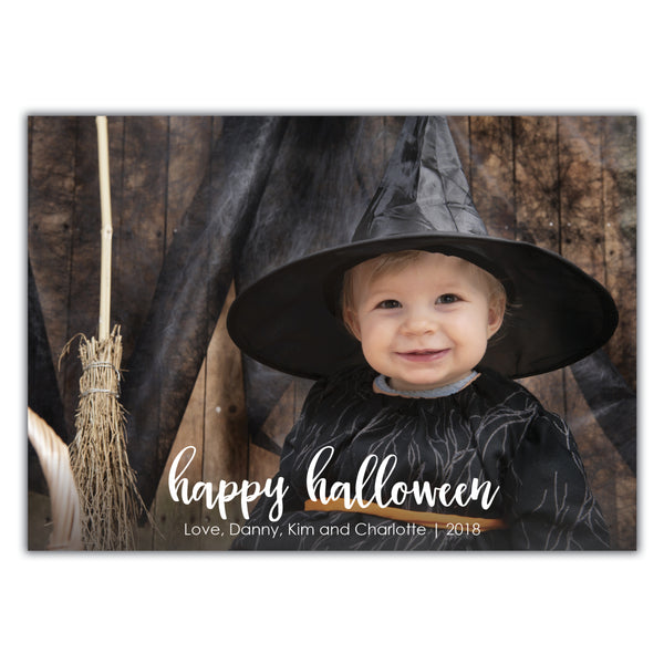 Handlettered Halloween Photo Card
