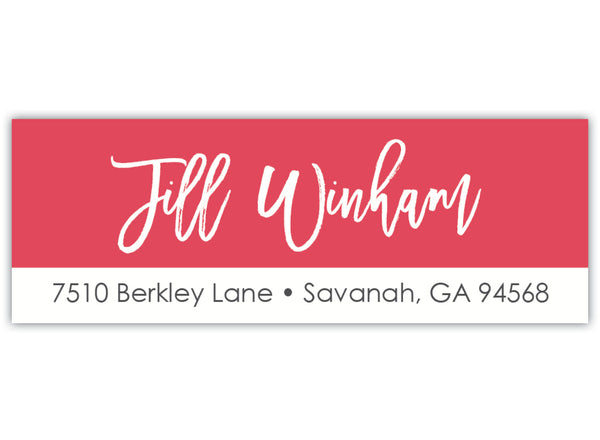 Color Return Address Label