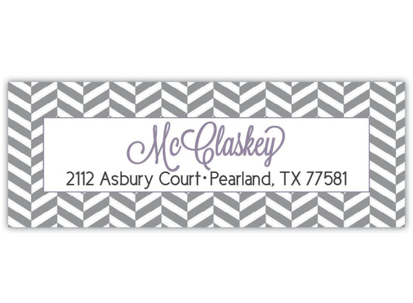 Herringbone Return Address Label