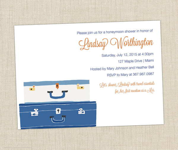 Honeymoon Shower Invitation