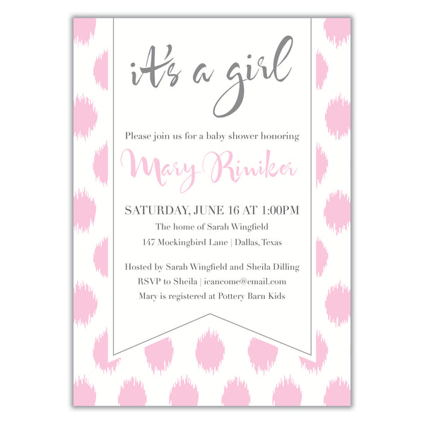 Ikat Shower Invitation
