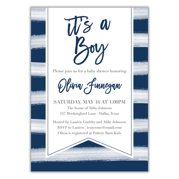 It's a boy Shower Invitation