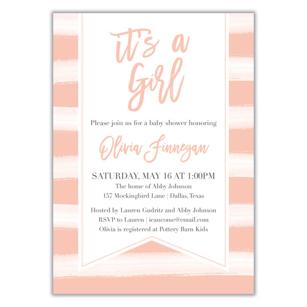 It's a girl Shower Invitation