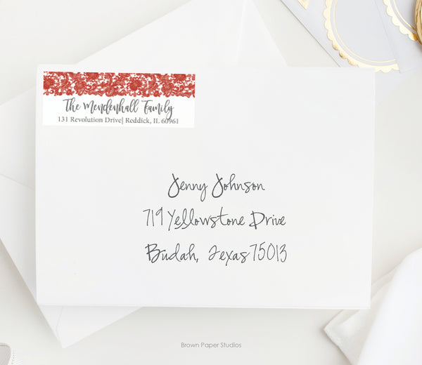 Lace Return Address Label