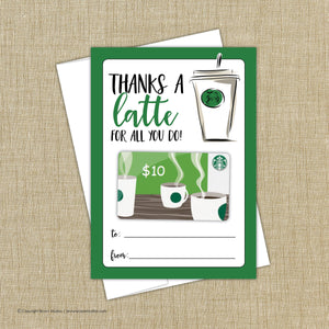 Thanks a latte for all you do