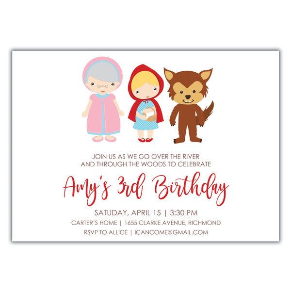 Little Red Riding Hood Invitation