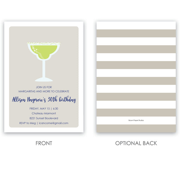 Margarita Birthday Invitation