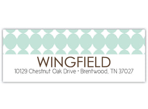 Modern Dot Return Address Label
