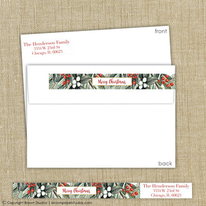 Floral Wrap Around Label