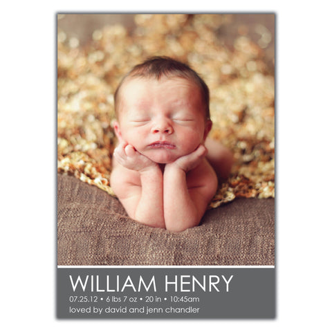 Boy Birth Announcements Brown Paper Studios – Boy Birth Announcement