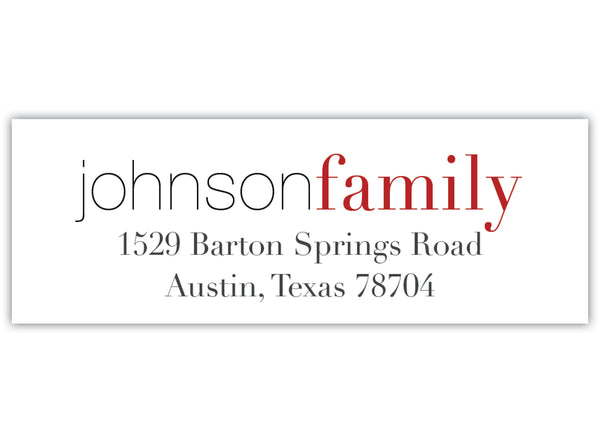 Modern Return Address Label