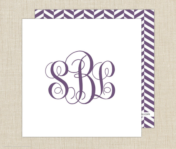 Monogram Enclosure Cards