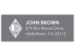 Diamond Monogram Return Address