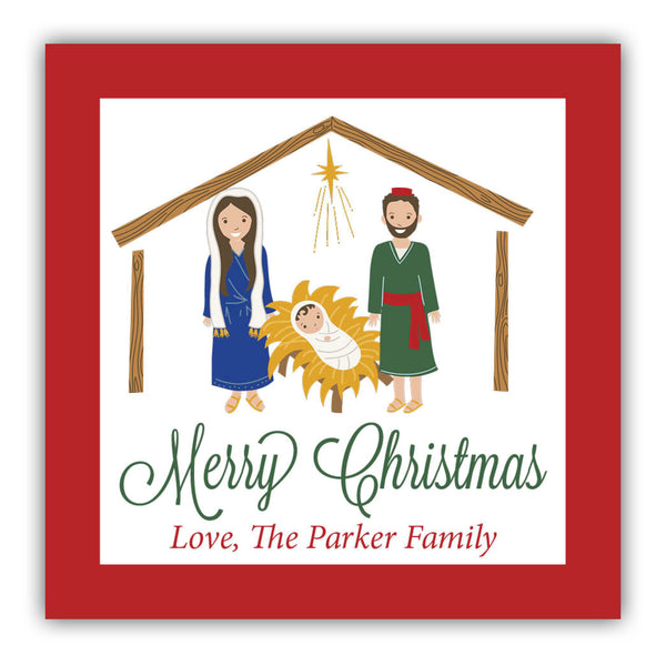 Nativity Gift Labels