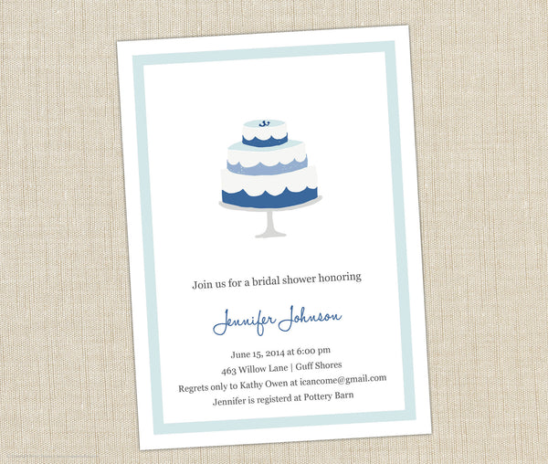 Nautical Bridal Shower Invitation