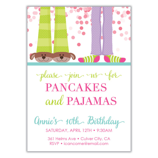 Pancakes and Pajamas Invitation
