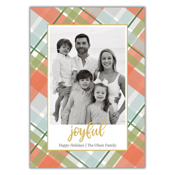 Pastel Plaid Christmas Card