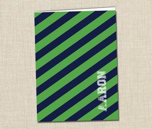 Personalized Folder Rugby Stripe