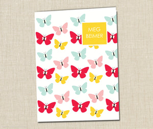 Personalized Folder Cheery Butterfly