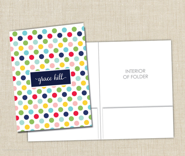 Personalized Folder Cheery Dots