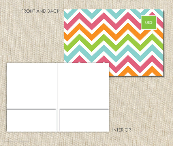 Personalized Folder Girls Chevron