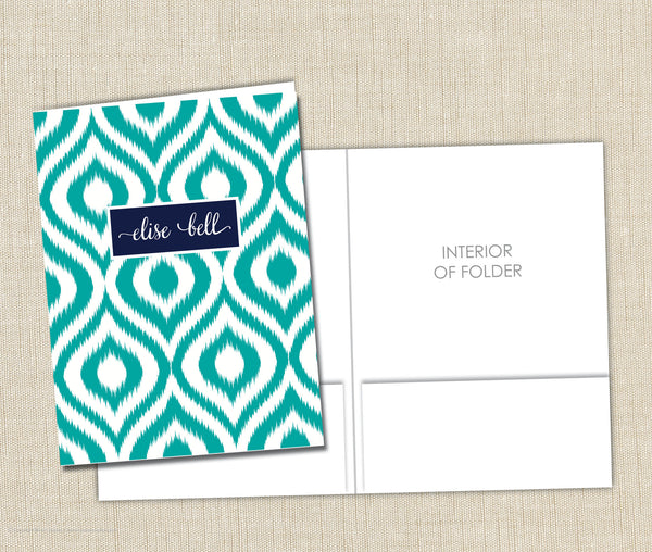 Personalized Folder Girls Ikat