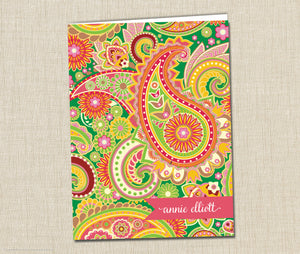 Personalized Folder Paisley