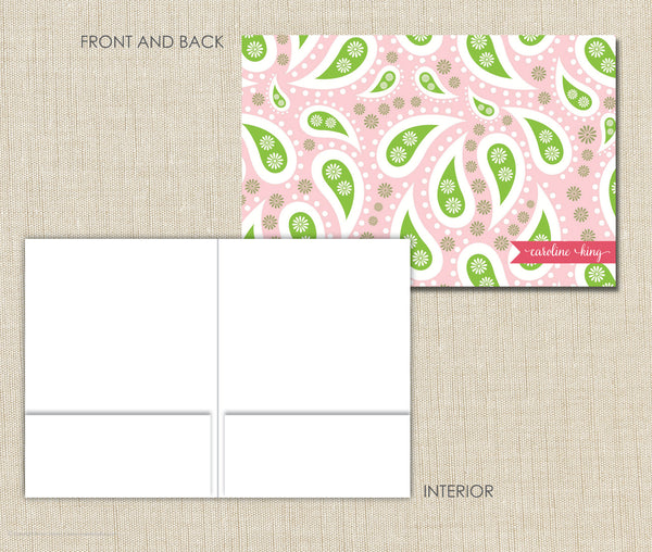 Personalized Folder Pink Paisley