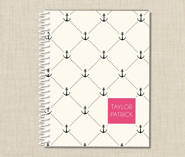 Personalized Anchors Away Notebook
