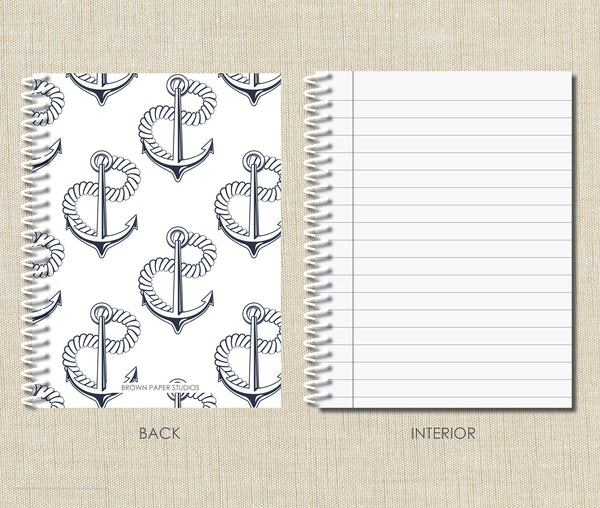 Personalized Anchor Spiral Notebook