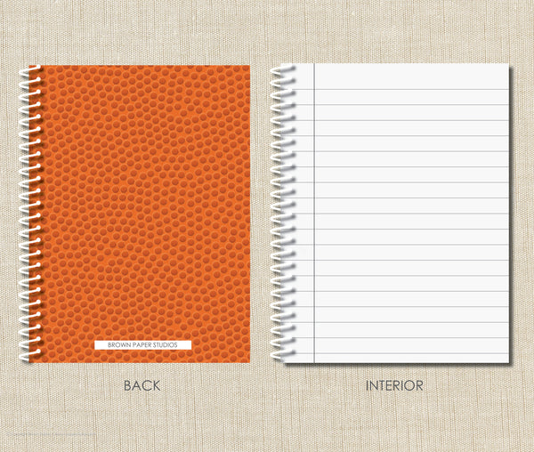 Personalized Basketball Spiral Notebook