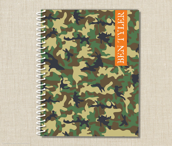 Personalized Camouflage Spiral Notebook