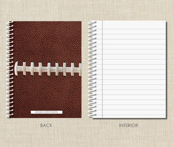 Personalized Football Spiral Notebook